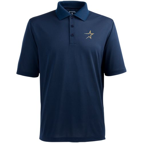 Antigua Men's Houston Astros Pique Xtra-Lite Polo Shirt
