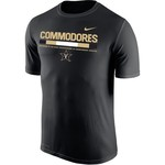 Nike Men's Vanderbilt University Dri-FIT Legend 2.0 Short Sleeve T-shirt - view number 1
