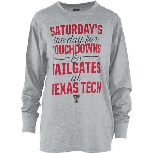 Three Squared Juniors' Texas Tech University Touchdowns and Tailgates T-shirt