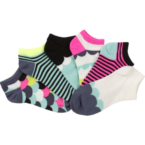 BCG Women's Bright Scallop Fashion Socks 6 Pairs - view number 3