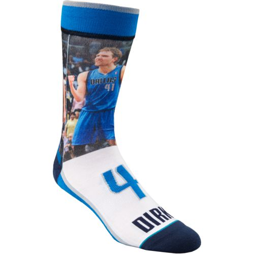 Stance Men's Dallas Mavericks Dirk Nowitzki Future Legends Crew Socks