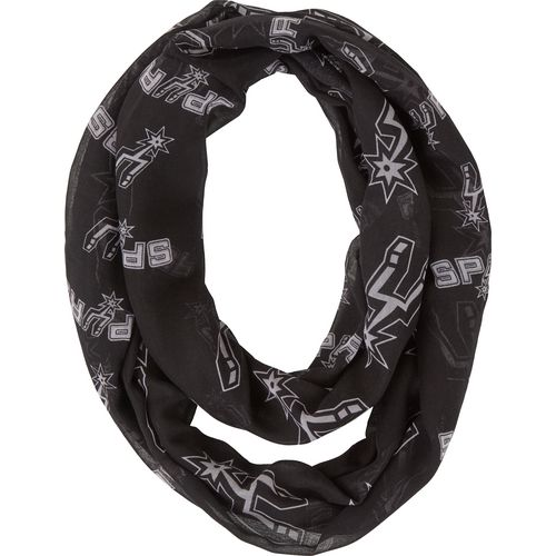 Forever Collectibles Women's San Antonio Spurs Team Logo Infinity Scarf