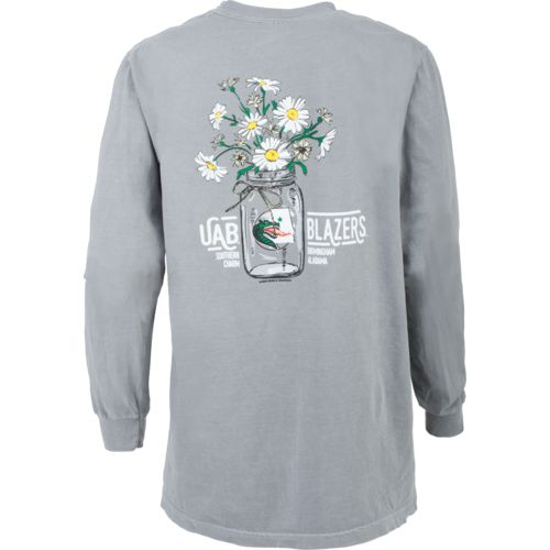 New World Graphics Women's University of Alabama at Birmingham Bouquet T-shirt