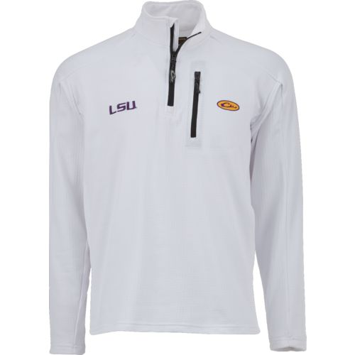 Drake Waterfowl Men's Louisiana State University Breathelite 1/4 Zip Pullover
