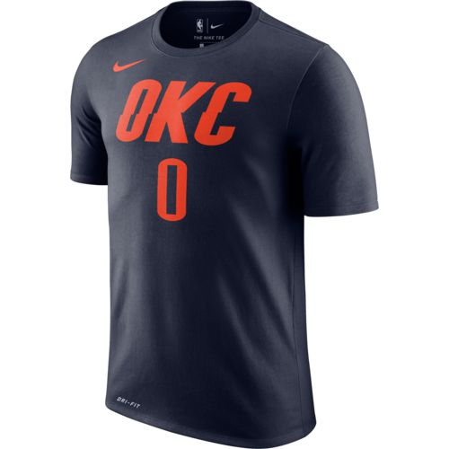 Display product reviews for Nike Men's Oklahoma City Thunder Russell Westbrook 0 Name and Number T-shirt