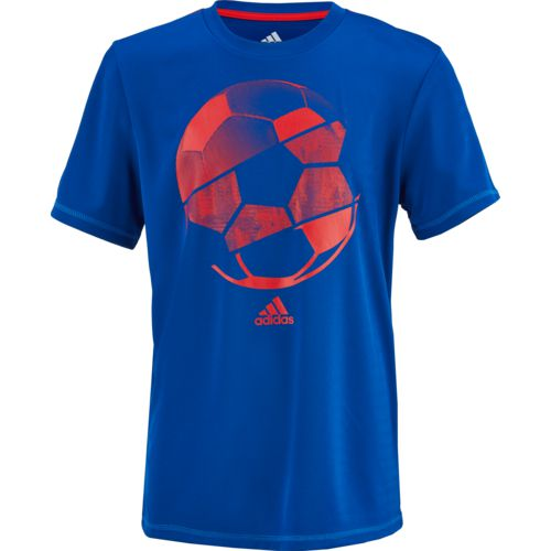 adidas Boys' climalite Hacked Sport Ball T-shirt