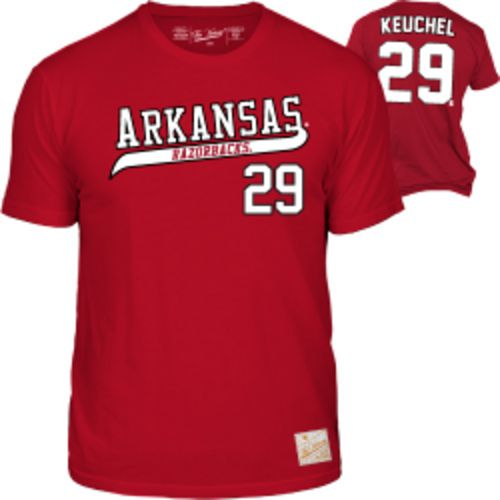 The Victory Men's University of Arkansas Dallas Keuchel 29 Retro MLBPA T-shirt