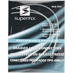 Superfly™ White Braided Loop Connectors 2-Pack