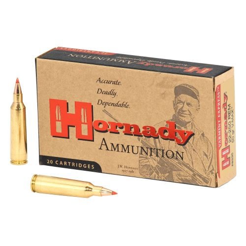 Hornady V-MAX™ .22-250 Remington 50-Grain Rifle Ammunition