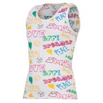 Soffe Girls' Allover Printed Boy-Beater Tank Top