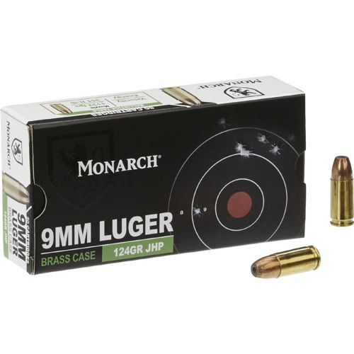 Monarch® JHP 9mm 124-Grain Centerfire Ammunition