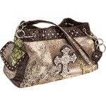 Realtree MAX-1 Cross Satchel with Rhinestones