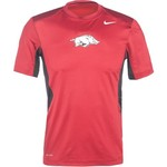 Nike Men's University of Arkansas Hypercool Short Sleeve T-shirt