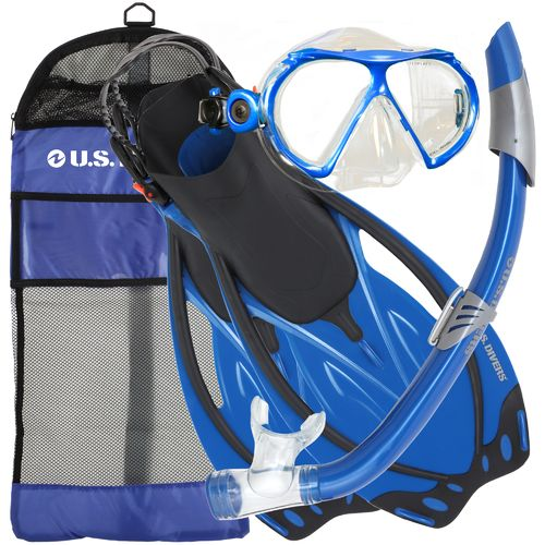 U.S. Divers Adults' Yucatan Snorkel and Fins Set