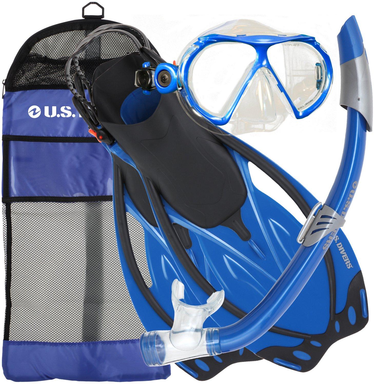 U.S. Divers Adults' Yucatan Snorkel and Fins Set