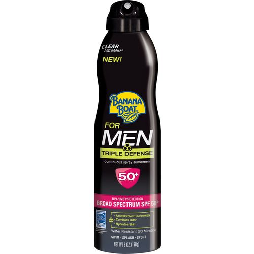 Image for Banana Boat® Men's Triple Defense UltraMist® Clear Spray SPF 50+ Sunscreen from Academy