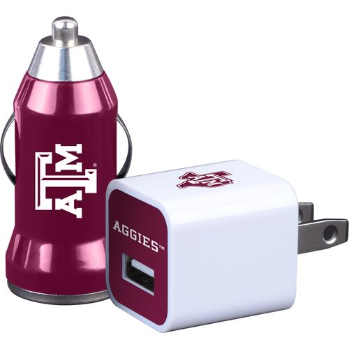 Mizco Texas A&M University Home and Away USB Chargers 2-Pack