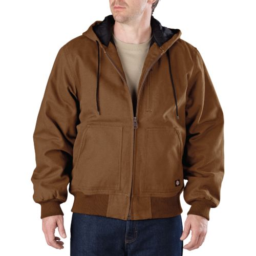 Dickies Men's Sanded Duck Hooded Jacket - view number 1