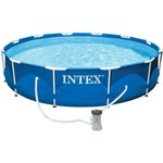 "INTEX® 12' x 30"" Round Metal Frame Pool Set"