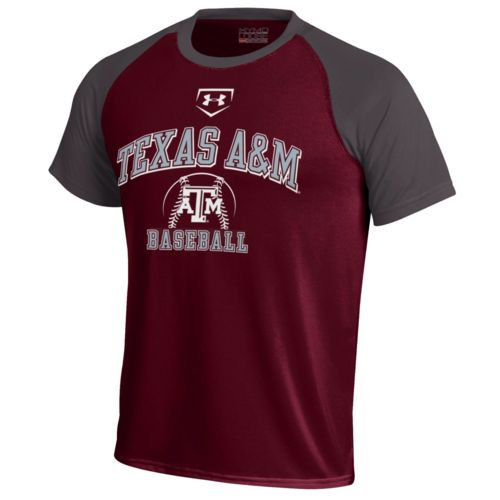 Under armour boys 39 texas a m university smu tech baseball for Texas baseball t shirt