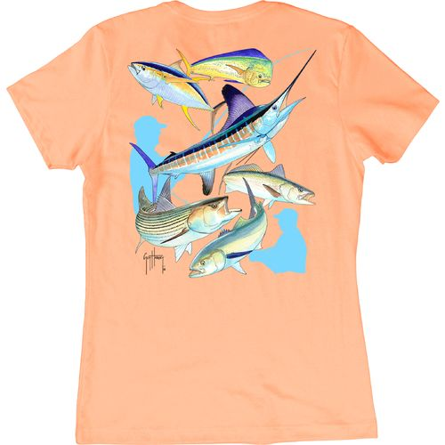 Guy Harvey Women's Big Hook Up Print Graphic T-shirt