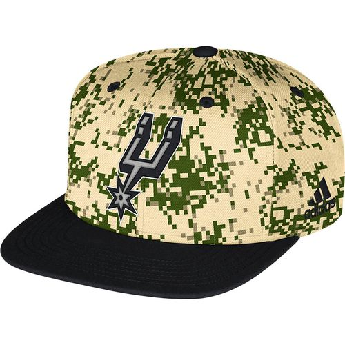 adidas™ Men's San Antonio Spurs Camo Structured Cap