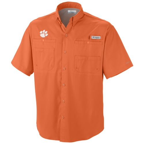 Columbia Sportswear Men's Clemson University Tamiami™ Short Sleeve Fishing Shirt