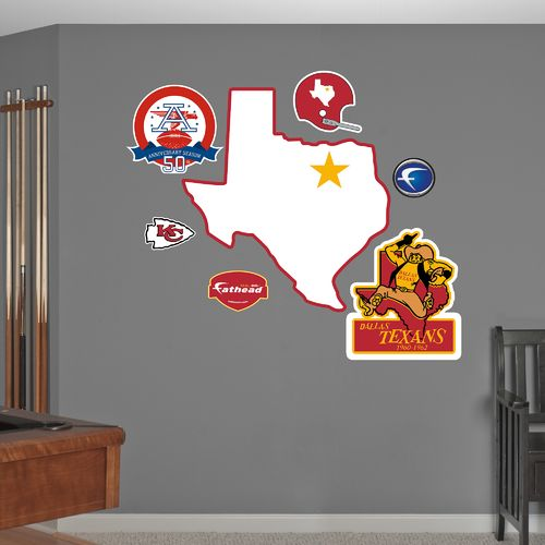 Fathead Dallas Texans Original AFL Logo and Team
