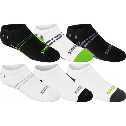 ASICS® Kids' Lil' Runner™ No-Show Socks 6-Pair