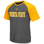 Colosseum Athletics Men's Wichita State University Rider Short Sleeve Poly Raglan T-shirt