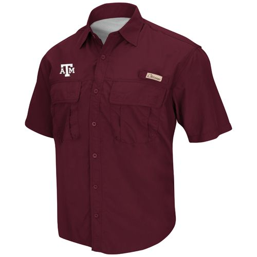 Colosseum Athletics Men's Texas A&M University Swivel Fishing Shirt