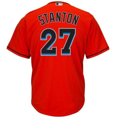 Majestic Men's Miami Marlins Giancarlo Stanton #27 Cool Base® Alternate Jersey - view number 1