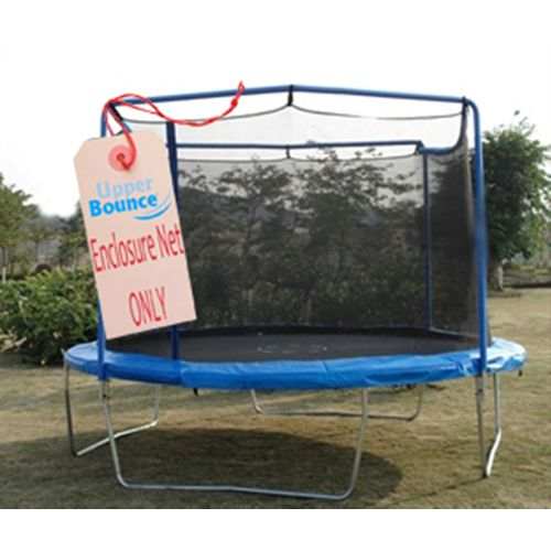 Upper Bounce® 13' Replacement Enclosure Safety Net with Straps for 2-Arch Trampoline