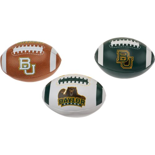 Rawlings® Boys' Baylor University 3rd Down Softee 3-Ball Football Set