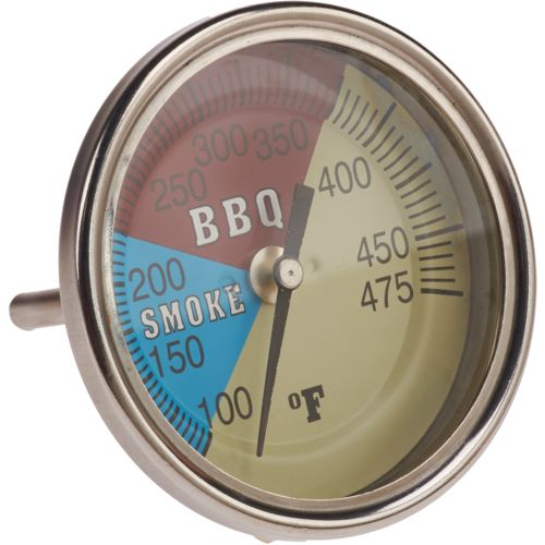"Old Country BBQ Pits 3"" Adjustable Temperature Gauge"