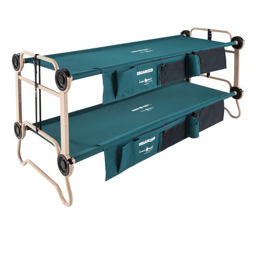 Disc-O-Bed™ Cam-O-Bunk Large Bunk Bed Cot with Organizers