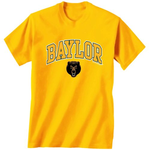 New World Graphics Men's Baylor University Arch Mascot T-shirt
