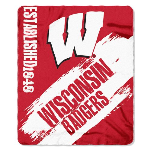 The Northwest Company University of Wisconsin Painted Fleece Throw
