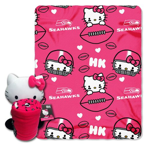 The Northwest Company Seattle Seahawks Hello Kitty Hugger and Fleece Throw Set