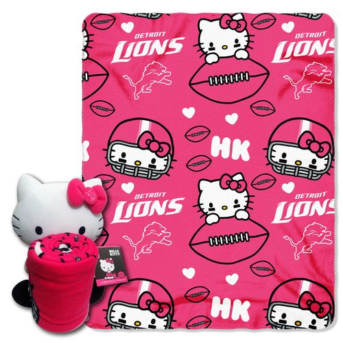 The Northwest Company Detroit Lions Hello Kitty Hugger and Fleece Throw Set