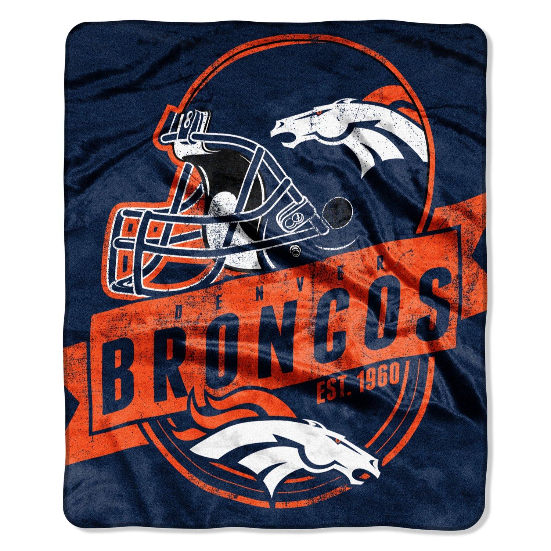 The Northwest Company Denver Broncos Grandstand Raschel Throw
