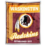 The Northwest Company Washington Redskins Old School Mink with Sherpa Throw