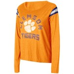 Touch by Alyssa Milano Women's Clemson University Cascade Long Sleeve T-shirt