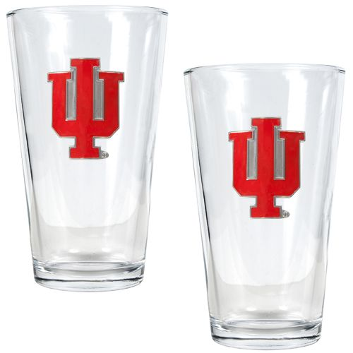 Great American Products Indiana University 16 oz. Pint Glasses 2-Pack