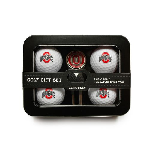 Team Golf Ohio State University 4-Ball Tin Gift