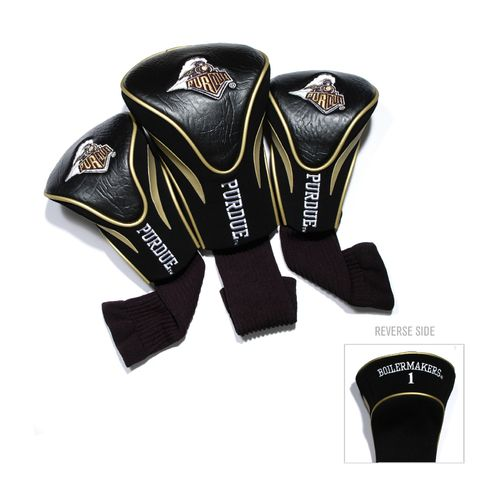 Team Golf Purdue University Contour Sock Head Covers 3-Pack
