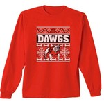 New World Graphics Women's University of Georgia Ugly Sweater Long Sleeve T-shirt