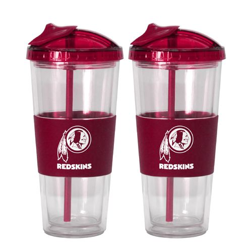 Boelter Brands Washington Redskins 22 oz. No-Spill Straw Tumblers 2-Pack