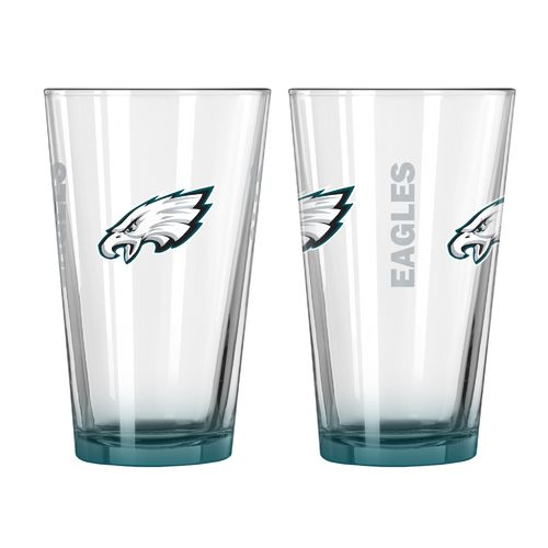 Boelter Brands Philadelphia Eagles Elite 16 oz. Pint Glasses 2-Pack
