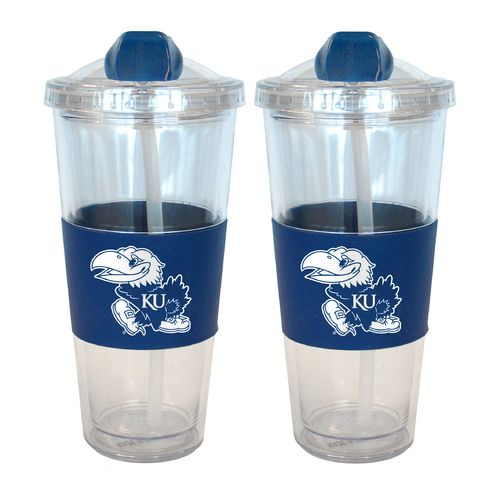 Boelter Brands University of Kansas 22 oz. No-Spill Straw Tumblers 2-Pack - view number 1